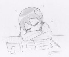 Commission - Sleeping Mayl by NikoH