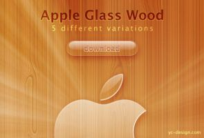 Apple Glass Wood by yc