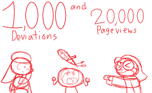 1,000 DEVIATIONS/20,000 PAGEVIEWS (FLASH WARNING) by xXJigglycutie1357Xx