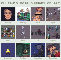 2014 Summary of Art by ThisIsEllian