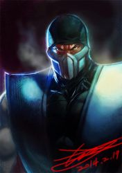 speed painting 02 sub-zero by HeeWonLee