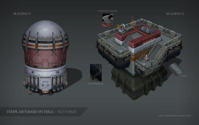 Skyforge. Thea. Building#1 and Building#2 by Andead