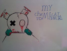 my chemical romance skull by BunnyWithLasers