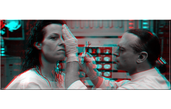 3D anaglyph Alien Resurrection 1997 by gogu1234