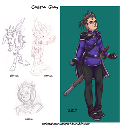 Calista Gray (Character Redraws) by TSoutherland