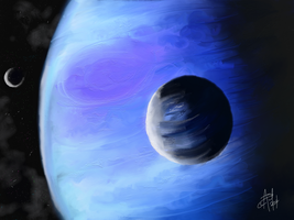 Blue Space by AngeInk