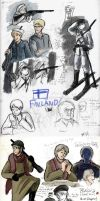 APH-FINLAND:Winter War Sketches by tomato-bird