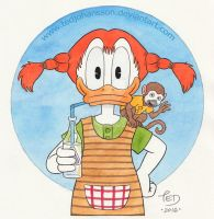 Donald Longstocking by TedJohansson