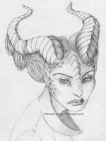 Demon/Alien girl study by Nimphradora