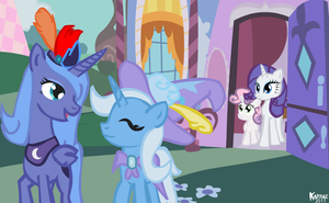 Trip to Rarity's Boutique by Kadjule