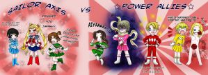 +Sailor Axis VS Power Allies+ by BlackLadySango