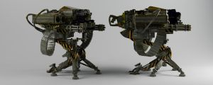Machine Gun Launcher. by dentonvanzan