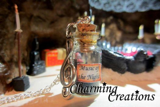 Music of the Night necklace by literary-magic