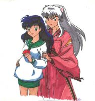 Inuyasha and Kagome- Expecting by theamberdragonfly