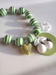 Stripe LPcherry charm bracelet by Tattooed-Gumball