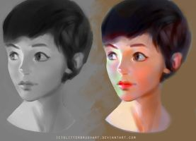 Color study by AshantiArt