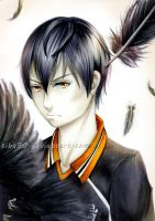 Kageyama Copic Fanart by Tiha90