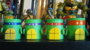 Foam Marshmallow TMNTs by Myrcury-Art