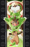 Chespin Family by NightLokison