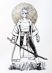 Inktober: Lovely Swordswomen by WakaXO