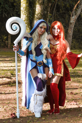 Crystal Maiden and Lina - Dota 2 by icecharizardcosplay
