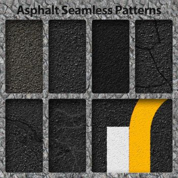 Asphalt and Lines Patterns by bosanza