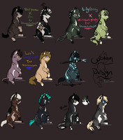 Breedable results andAdopts  *1/4 Left* by Evertooth