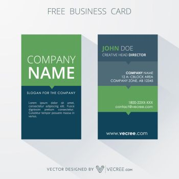 Free Vertical Business Card Free Vector by vecree