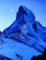 Moonlight Matterhorn by S-NOBLE