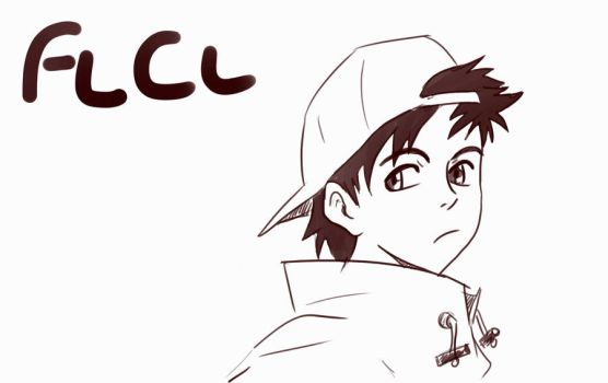 Naota FLCL-warm up by ReiSif