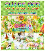 : SHARE PSD - HAPPY BIRTHDAY SANA : by Amaya-Ito-Kites