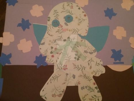 Paper art stuffed bunny by creepergirl890