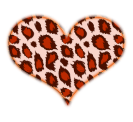 ORANGE LEOPARD HEART by MissesAmberVaughn