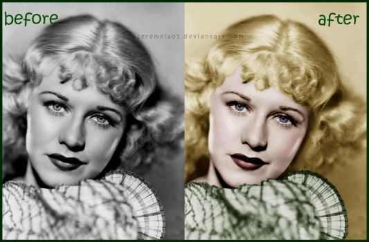 Before and After: Ginger Rogers by seremela05