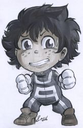 Grey Marker Izuku from My Hero Academia by dekarogue
