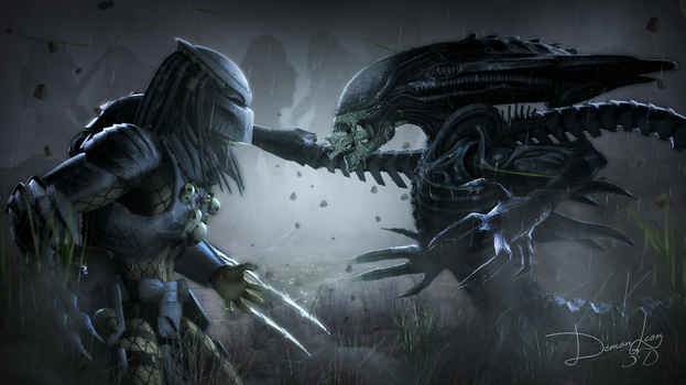 #Alien Vs Predator by DemonLeon3D