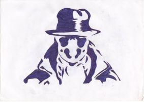 Rorschach stencil by immortal-death-13