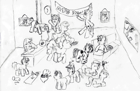 I drew far too many ponies today... (sketch) by TheMagicalFish