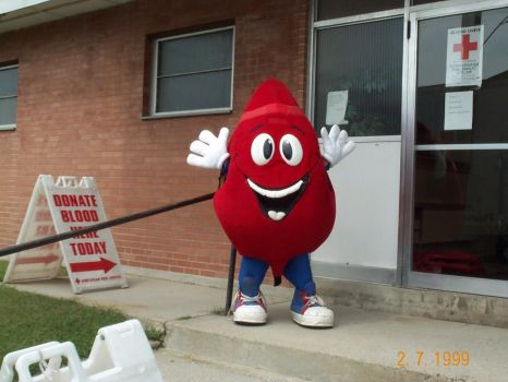 American Red Cross Blood Drop Costume by Akatsuki2011