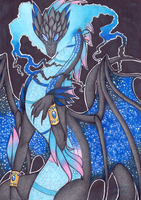 Galactic Dragon by DeathTheDragon