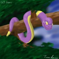 Pokemon Challenge 023-Ekans by midgear
