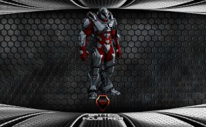 Crimson Storm Battlesuit by ParallaxAlteration