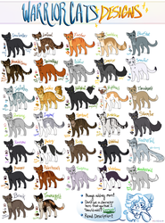 Warrior Cats Designs::. by BluSilurus