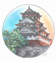 Japanese Castle by MaryTL