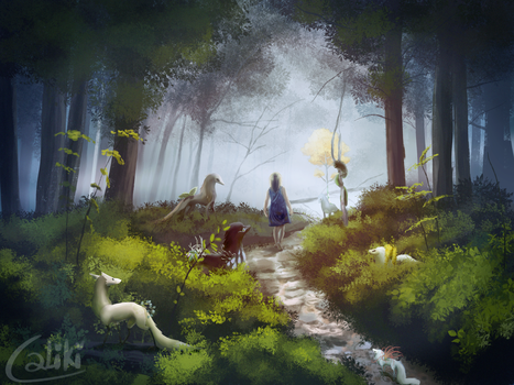 Creatures In The Woods by Caliki