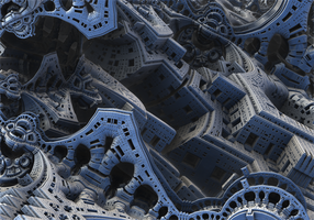 The Fractal Temples in the Fractal City by Jakeukalane