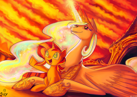 Princess Your sunsets are Amazing by Jowybean