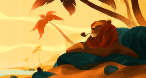 Bored Lion by UlricLeprovost