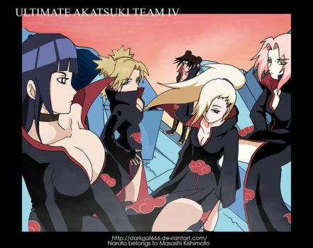 Ultimate Akatsuki Team IV by darkgal666