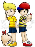Lucas and Ness by Rosa-Mystical